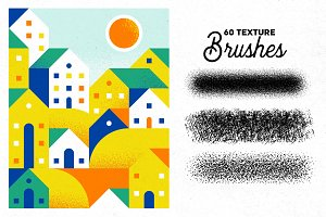 60 Vector Texture Brushes