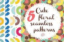 Сute floral patterns.