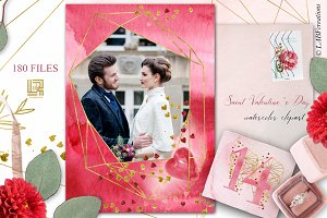 Saint Valentine's Day  watercolors