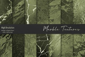 Green Marble Textures, Backgrounds