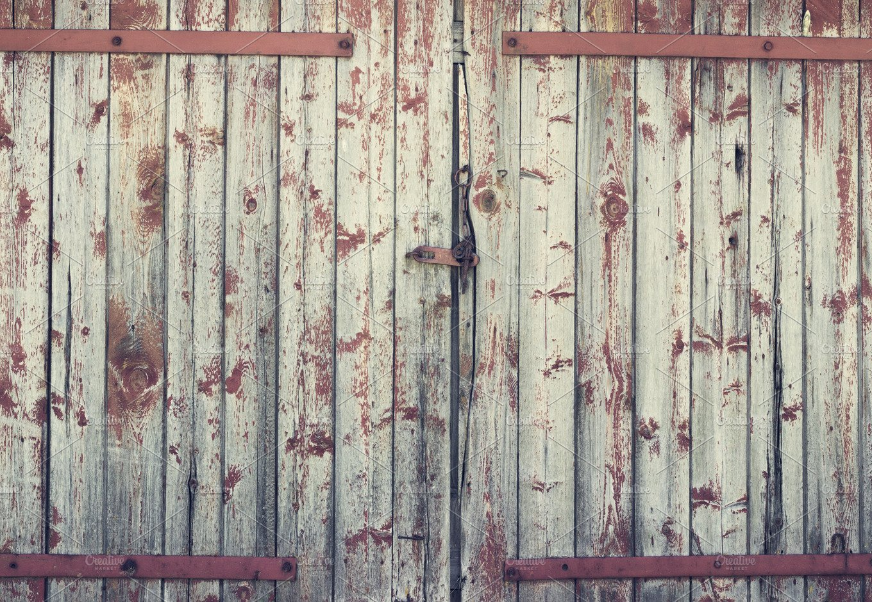 Background Old Wooden Barn Door Abstract Photos Creative Market