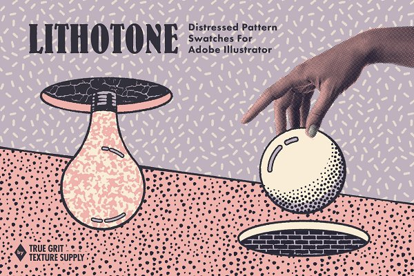LITHOTONE: Dstrssd Pattern Swatches