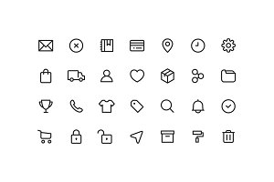 E-Commerce Ui Line Icons