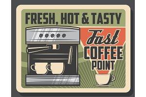 Coffee machine, coffeeshop espresso