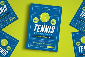 Tennis Tournament Event Flyer