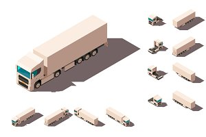 Big truck with box for delivery