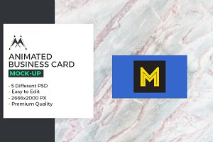 Animated Business Card Mockups