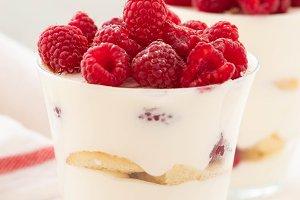 Raspberry dessert, cheesecake