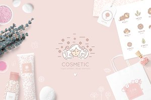 Cosmetic icon & logos