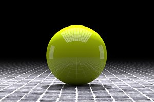 Yellow sphere