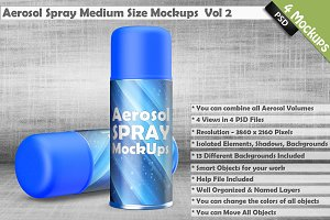Aerosol Spray Can Mockup vol 2