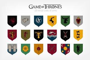 Game of Thrones heraldry set