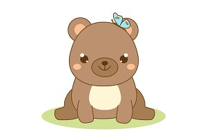 Cute kawaii bear