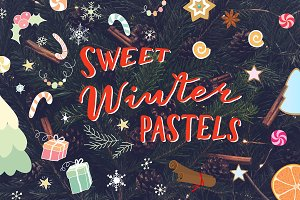 Chrismas vector elements and pattern