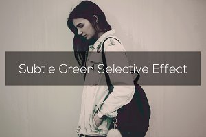 Subtle Green Selective Effect