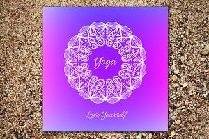 """Love Yourself"". Decorative card."