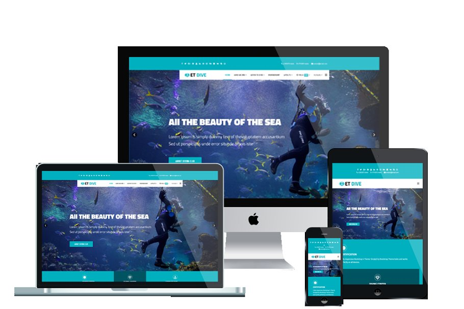 ET Dive Scuba diving website Joomla