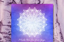 """""""Make Time for Your Yoga"""" card"""
