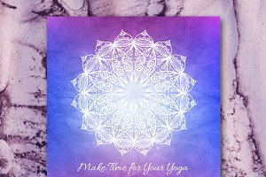 """Make Time for Your Yoga"" card"