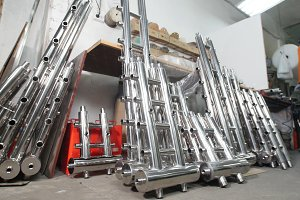 Industrial manufacturing. A storage