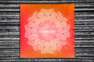 """Meditation"". Decorative card."