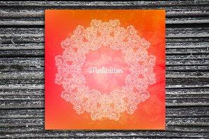 """Meditation"". Decorative card."