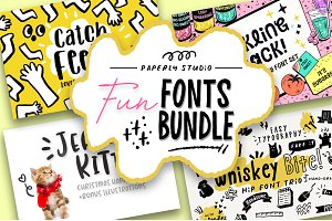 Fun Font Mini Bundle + Extras