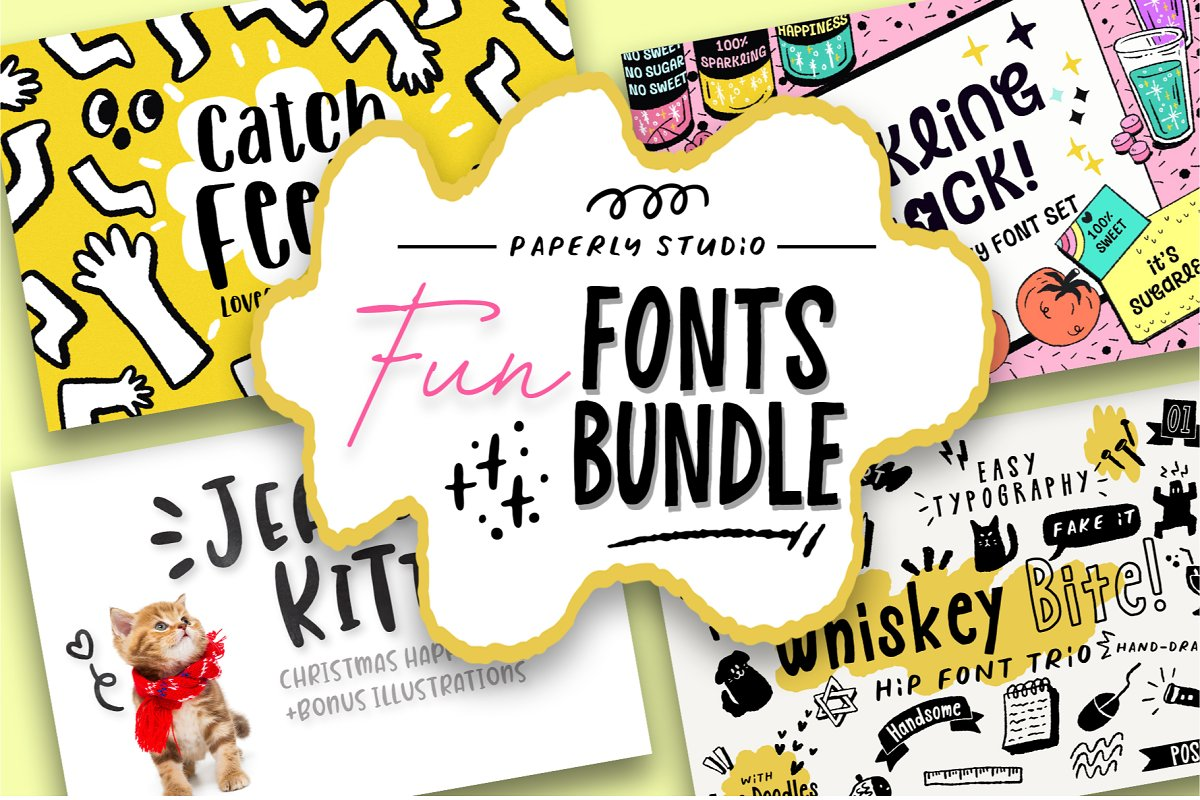 Fun Font Mini Bundle + Extras