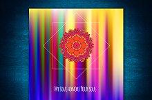 Mandala. Decorative card.