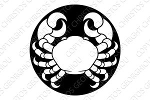 Zodiac Signs Cancer Crab