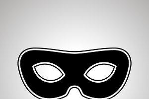 Vintage carnival mask icon