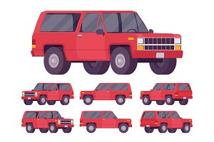 Red offroad set
