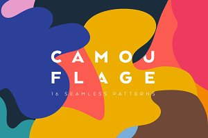 Colourful camouflage seamles pattern