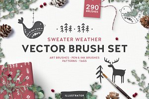 Sweater Weather Vector Brushes