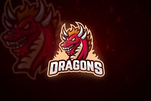 Red Dragon - Mascot & Esport Logo