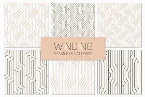 Winding Seamless Patterns. Set 3