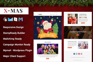 X-MAS - Responsive Email Template