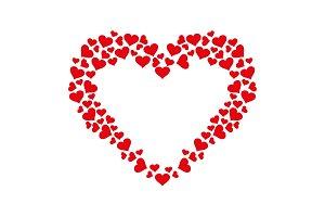 Heart frame icon vector. Love symbol