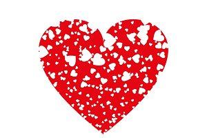 Heart icon vector. Love symbol