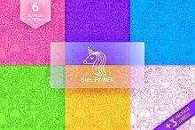 Girl Power Line Tile Patterns