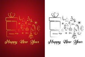 Christmas Icons Set New Year