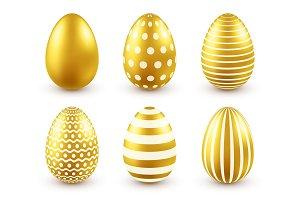 Easter golden egg. Traditional