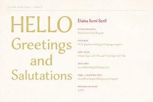 Elaina Semi-Serif
