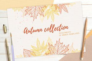 Hand drawn Autumn collection. Fall