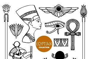 Egypt ancient symbols set