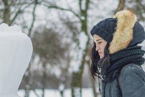 smiling female teenager outdoors mak