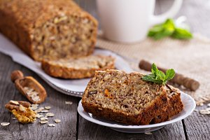 Vegan banana carrot bread