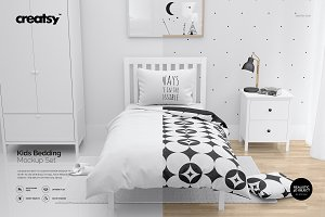 Kids Bedding Mockup Set / Bedroom