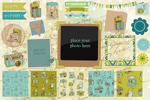 Old Photocamera Scrapbook set