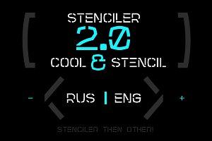Stenciler Font | Latin | Cyrillic
